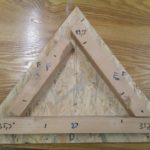 Wzornik do montażu trójkątów.